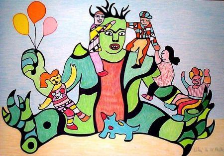 Lithographie De Saint Phalle - Le monstre