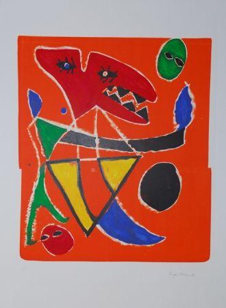 Lithographie Ionesco - Le mordant