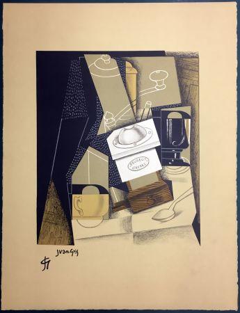 Lithographie Gris  - Le moulin à café. Lithographie (1955).