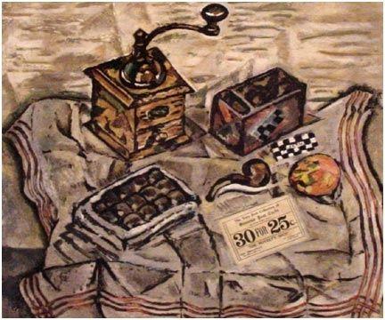 Aquatinte Miró (After) - Le Moulin a Café (1954)