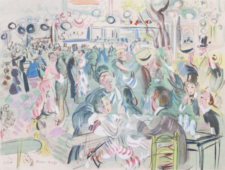 Pochoir Dufy - Le Moulin de la Galette