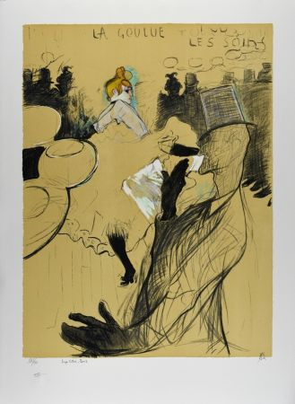 Lithographie Toulouse-Lautrec - LE MOULIN ROUGE : La Goulue & Valentin le désossé, 1891