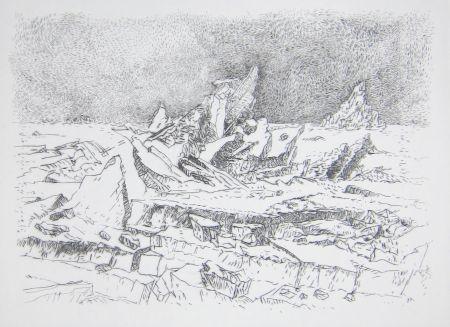 Pointe-Sèche Leclercq-K. - Le Naufrage (d'après Caspar David Friedrich) 1er état