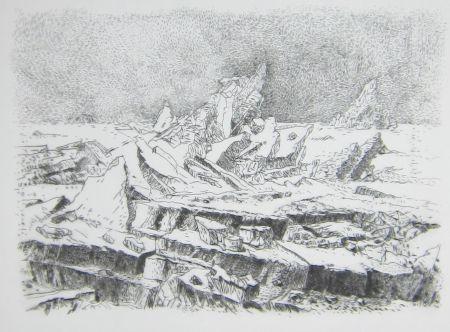 Pointe-Sèche Leclercq-K. - Le Naufrage (d'après Caspar David Friedrich) 2e état