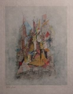 Gravure Wols - Le navire dans la ville