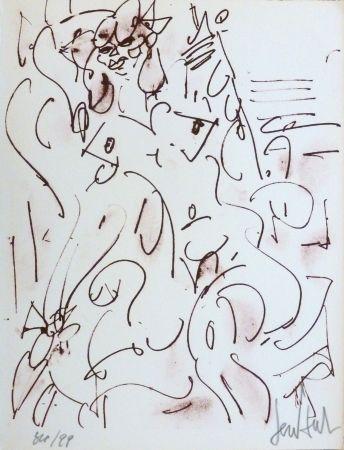 Lithographie Paul  - Le nu assis