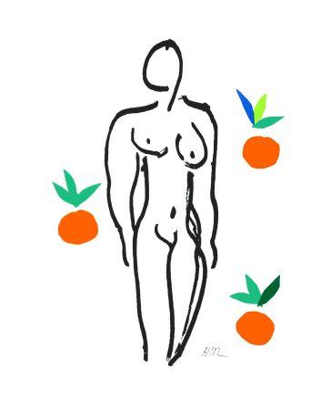 Lithographie Matisse - Le Nu aux oranges (Nude with Oranges)