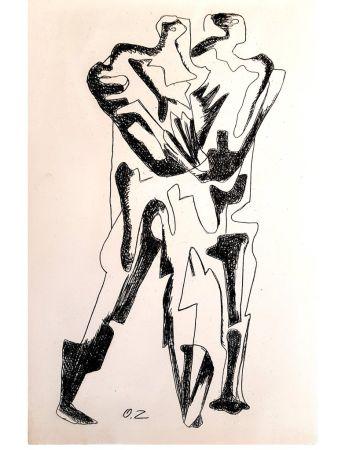 Lithographie Zadkine - Le Pas Ultime