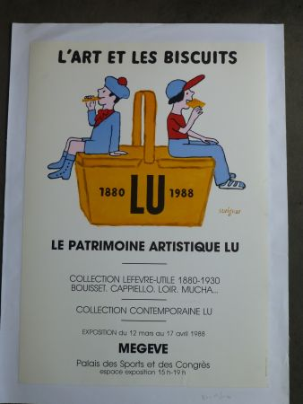 Affiche Savignac - Le patrimoine artistique LU ,l'art et les biscuits