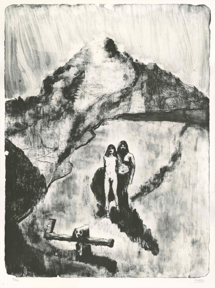 Lithographie Blutch - Le Pays de la Soif