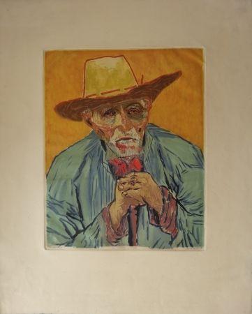 Eau-Forte Et Aquatinte Villon - Le paysan (d'après Van Gogh)
