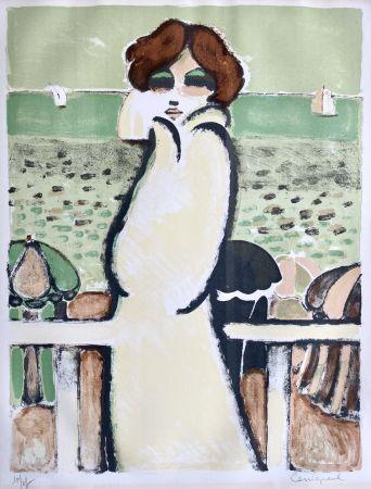 Lithographie Cassigneul  - Le Peignoir de Bain