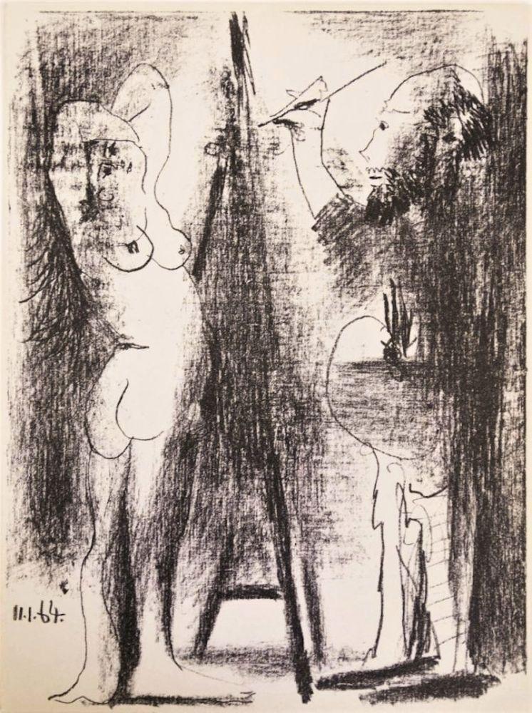 Lithographie Picasso - Le Peintre et Son Modèle