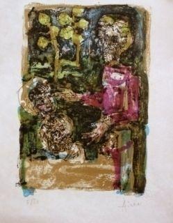 Lithographie Aizpiri - LE PERE