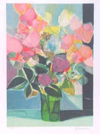 Lithographie Hilaire - Le petit bouquet