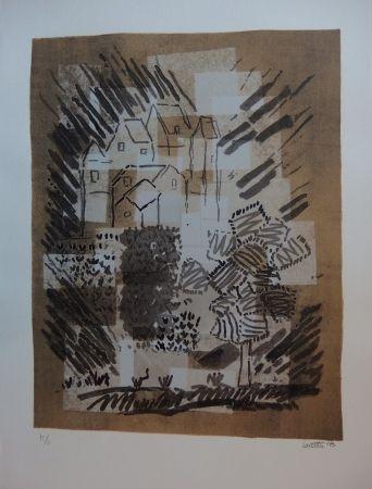 Lithographie Louttre - Le petit pays