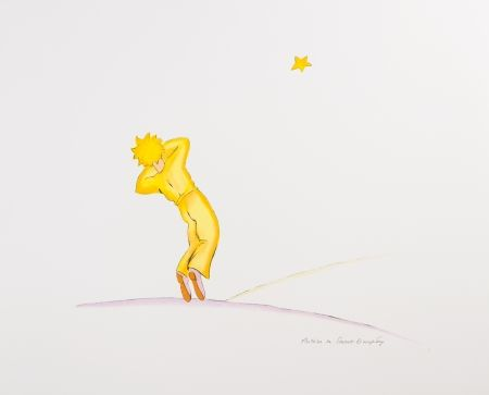 Lithographie Saint-Exupéry - Le Petit Prince endormi