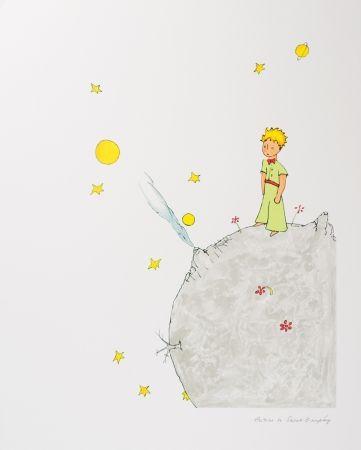 Lithographie Saint-Exupéry - Le Petit Prince sur l'astéroide B-612