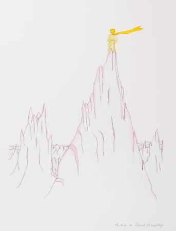 Lithographie Saint-Exupéry - Le Petit Prince sur les cimes