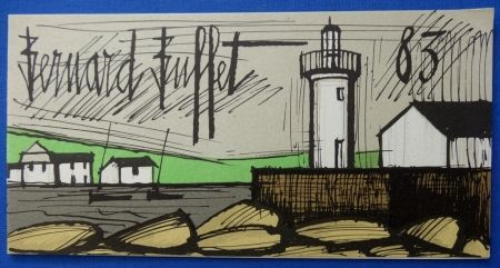 Lithographie Buffet - Le phare