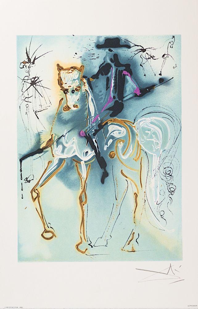 Lithographie Dali - Le Picador