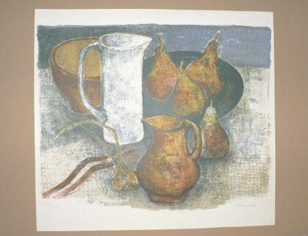 Lithographie Minaux - Le pichet