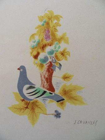 Lithographie Cavailles - Le Pigeon