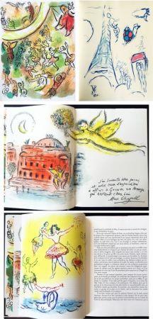 Livre Illustré Chagall - LE PLAFOND DE L'OPERA DE PARIS. Lithographie originale de Marc Chagall (1965).