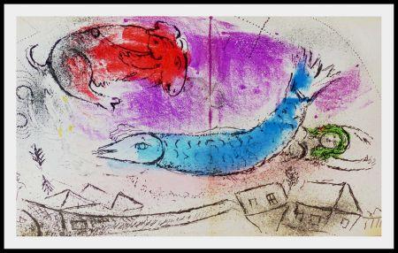 Lithographie Chagall - LE POISSON BLEU