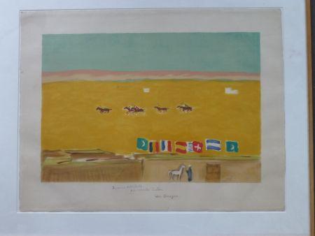 Lithographie Van Dongen - Le polo à Alexandrie