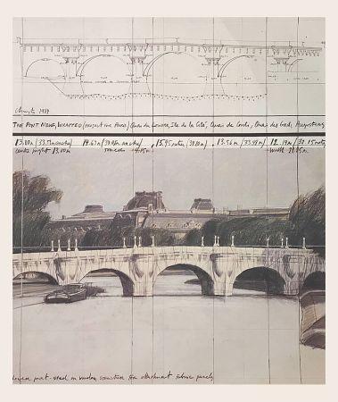 Offset Christo - Le Pont neuf emballé