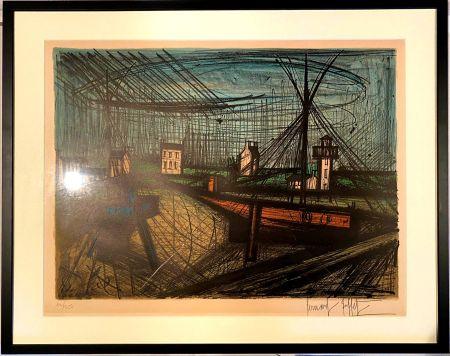 Lithographie Buffet - Le port
