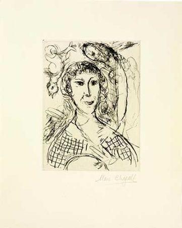 Gravure Chagall - Le portrait du peintre