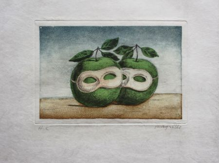 Eau-Forte Et Aquatinte Magritte - Le Prêtre Marie