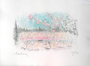 Lithographie Hambourg - Le printemps
