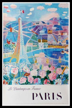 Lithographie Dufy - LE PRINTEMPS EN FRANCE PARIS