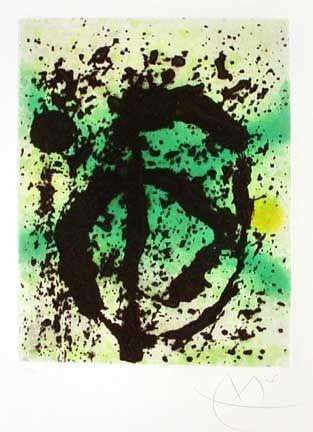 Aquatinte Miró - Le Règne Végétal (1968)