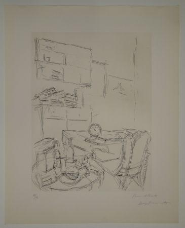Eau-Forte Giacometti - Le Réveil dans la chambre rue Hippolyte Maindron / Le Réveille-matin (The Alarm Clock).