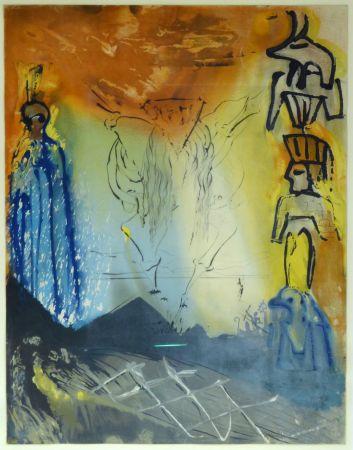 Lithographie Dali - Le Rêve De Moïse / Moses' Traum