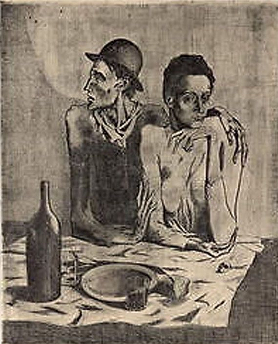 Lithographie Picasso (After) - Le Repas Frugal