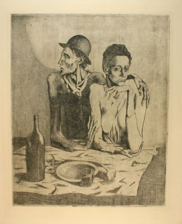 Gravure Picasso - Le repas frugal