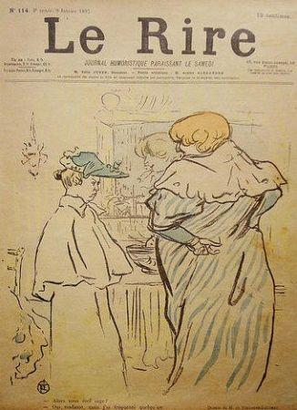 Lithographie Toulouse-Lautrec - Le Rire