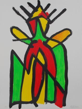 Lithographie Ionesco - Le roi