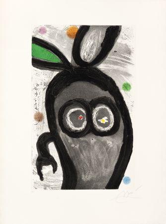 Gravure Miró -  Le Roi des lapins