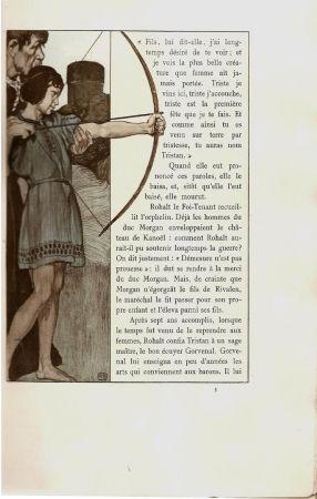 Livre Illustré Engels - Le roman de Tristan et Iseut