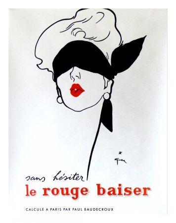 Affiche Gruau - LE ROUGE BAISER