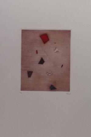 Gravure Piza - Le rouge d'en haut