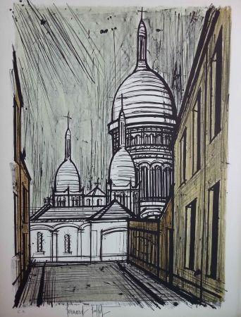 Lithographie Buffet - Le Sacre-Coeur de  Montmarttre