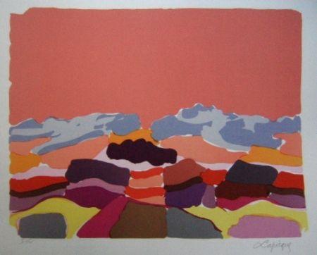 Lithographie Lapicque - Le Sahara