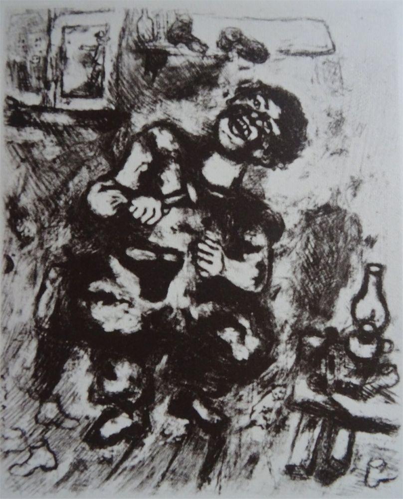 Eau-Forte Chagall - Le Savetier et le Financier